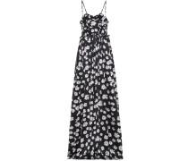 Bedrucktes Jacquard-Kleid aus Seide