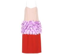 Verziertes Kleid aus einem Seidengemisch