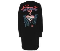 Bedrucktes Sweatshirt-Kleid aus Baumwolle
