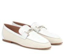 Loafers aus Leder und Canvas