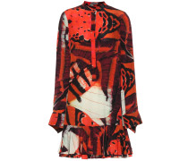 Alexander McQueen Bedrucktes Minikleid aus Seide