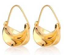 Ohrringe Mini Paniers Dorés mit 18kt Goldauflage