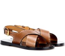 Verzierte Sandalen Jane aus Leder