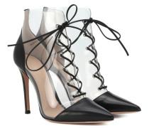 Ankle Boots Icon mit Leder