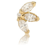 Einzelner Ohrring Lotus aus 18kt Gold und Diamanten