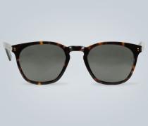 Quadratische Sonnenbrille mit Acetat