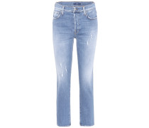 High-Rise-Jeans Edie aus Stretch-Denim