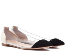 Ballerinas Plexi Flat aus Leder