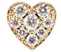 Ohrring Petite Coeur aus 18kt Gold mit Diamanten