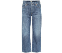 High-Rise Cropped Jeans Emery