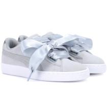 Sneakers Basket Heart Safari aus Veloursleder
