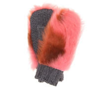Handschuhe aus Wolle mit Shearling