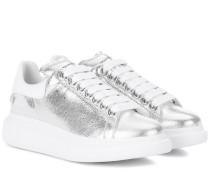 Alexander McQueen Sneakers aus Metallic-Leder