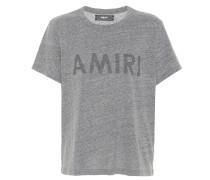 Bedrucktes T-Shirt mit Baumwollanteil