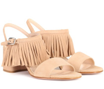 Sandalen aus Veloursleder