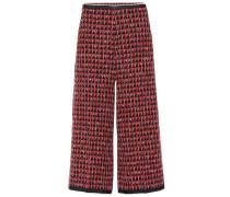 Cropped-Hose aus Tweed