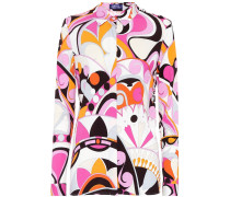 Bedruckte Jersey-Bluse