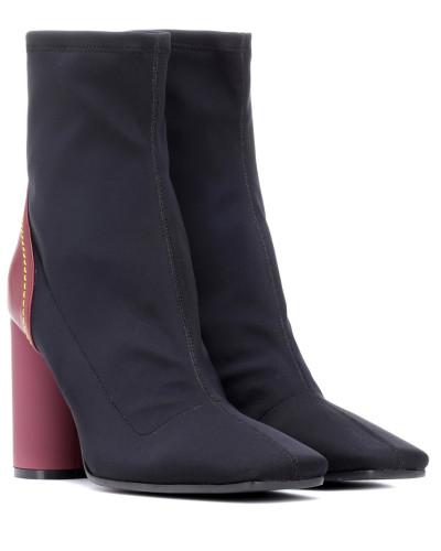 Ankle Boots mit Leder