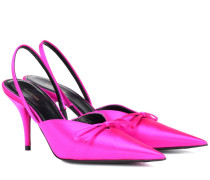Slingback-Pumps Knife aus Satin