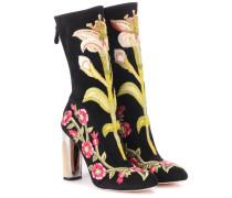 Alexander McQueen Stiefel aus Veloursleder