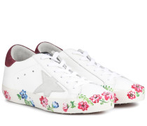 Verzierte Sneakers Superstar aus Leder
