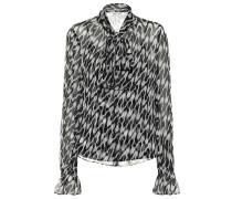 Bedruckte Bluse Tina aus Seide