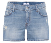 Mid-Rise Slim-Fit Shorts
