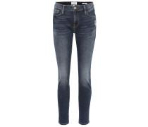 Mid-Rise Cropped Jeans Le Garçon