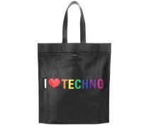 Shopper I Love Techno aus Leder