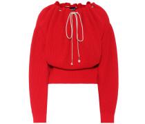 Off-Shoulder Pullover aus Baumwolle