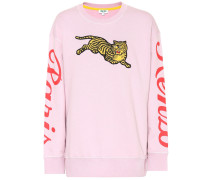 Sweatshirt Jumping Tiger mit Stickerei