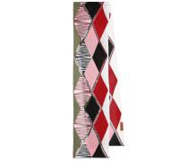 Schal aus Metallic-Strick