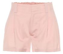 High-Rise Shorts aus Schurwolle