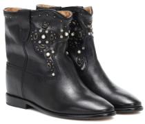 Ankle Boots Cluster aus Leder