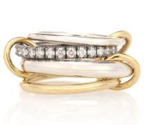 Ring Janssen WG aus 18kt Gelbgold und Sterlingsilber