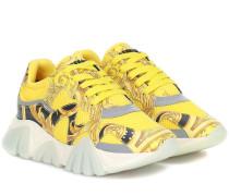 Sneakers Squalo aus Leder und Mesh