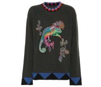 Verzierter Pullover aus Wolle
