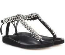 Verzierte Sandalen Emita aus Leder