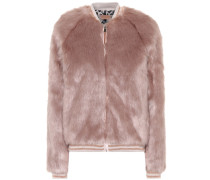 Bomberjacke The Letterman aus Faux Fur
