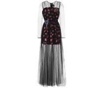 Bedrucktes Kleid aus Tüll