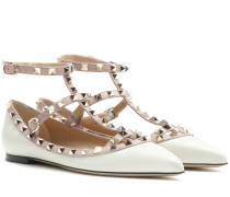 Garavani Ballerinas Rockstud aus Leder