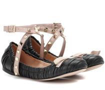 Garavani Ballerinas Studwrap aus Leder