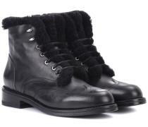 Ankle Boots Cozen aus Leder und Shearling