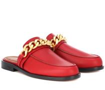 Verzierte Slippers aus Leder