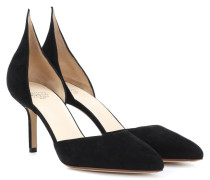 Pumps mit Cut-outs aus Veloursleder