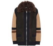 Jacke aus Wolle und Veloursleder
