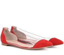 Exklusiv bei Mytheresa – Ballerinas Plexi aus Veloursleder