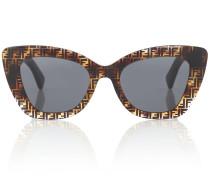 Cat-Eye-Sonnenbrille Havana FF