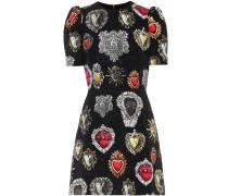 Kleid aus bedrucktem Brokat