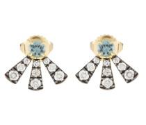 Ohrringe aus Gelbgold mit Diamanten und Saphiren